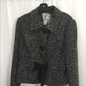 Mac & jac Black & white tie jacket blazer XL